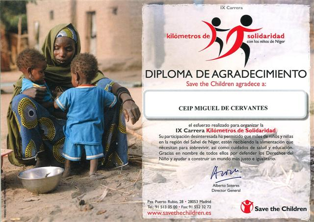 Diploma Save theChildren 2013
